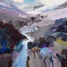 """A large #memoryscape. Late in the #afternoon I took a rambling walk from the farm at #Kardella and tried to recall the fragments of everything I'd seen... """"Remnants of Daylight"""", 122X122cm, oil on linen. #abstractexpressionist #onlineart #painter"""