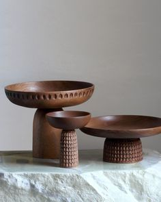 The very first elements of life - wood & stone. Thank you for this lovely photograph of our Nera bowls in small, medium and large size designed by ph: Home Decor Accessories, Decorative Accessories, Decorative Items, Decorative Bowls, Wood Stone, Wood Sculpture, Wood Turning, Cheap Home Decor, Ceramic Art