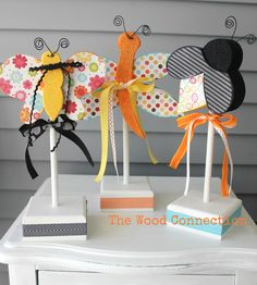 Insect Trio Butterfly $4.95 Dragonfly $6.95 Bee $4.95 Funky Summer  $17.95 Ladybug Door Hang $11.95 Summer with flip flops $13.25 Watermelon Trio $14.85  Ant Trio $7.95 Optional Watermelons $3.25 Ladybug Trio $9.15  Watermelon Door Hang $11.95  **All images and designs are Copyright of THE WOOD CONNECTION. Any violation of our copyright will result in legal action. Thank you for not stealing our designs.** *We do NOT ship *Stock on item changes daily