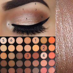 makeup step by step Eye Makeup Looks Morphe 350 64 New Ideas Augen Make-up sieht Morphe 350 64 Neue Ideen Eye Makeup Tips, Makeup Goals, Skin Makeup, Makeup Inspo, Beauty Makeup, Makeup Ideas, Makeup Brushes, Beauty Tips, Makeup Kit