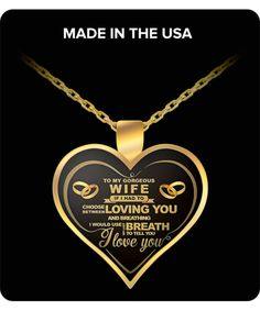 Perfect Gift For Valentine's Day, For Your Love, Wife, Wifey, Girlfriend, Friend,  22 inch necklace chain that fits great on anyone.