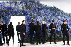 I think @Dior must have bought all the delphinium in Europe: 300,000 outside the show, 100,000 inside. #PFW vvfriedman  ...