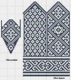 Bilderesultat for nordic knitting chart Knitted Mittens Pattern, Knit Mittens, Knitting Socks, Knitting Charts, Knitting Stitches, Knitting Patterns Free, Yarn Projects, Knitting Projects, Norwegian Knitting
