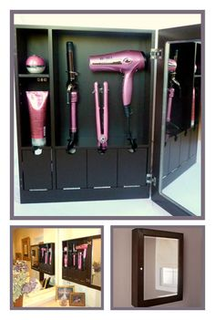 The Style & Go Hair Care Valet - No more clutter, no more cords… lot's more bathroom storage space!