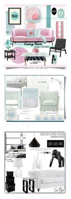 """""""Winners for Living Room Under $1000"""" by polyvore ❤ liked on Polyvore featuring interior, interiors, interior design, home, home decor, interior decorating, No. 918, Dot & Bo, Americanflat and Royal Doulton"""
