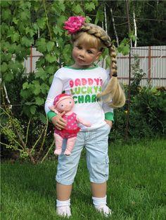 Прически на каждый день. Коллекционная кукла Даффи от Моники Левениг / Другие коллекционные куклы / Бэйбики. Куклы фото. Одежда для кукол Reborn Child, Reborn Toddler Girl, Child Doll, Reborn Dolls, Reborn Babies, Baby Dolls, Pretty Baby, Christmas Baby, Doll Clothes