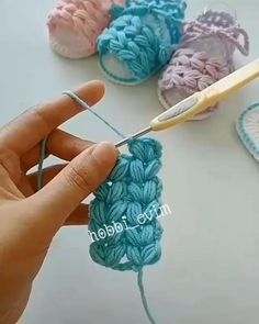 Crochet Basket Pattern, Crochet Flower Patterns, Crochet Motif, Crochet Designs, Crochet Stitches, Sewing Patterns, Crochet Cord, Diy Crochet, Crochet Crafts