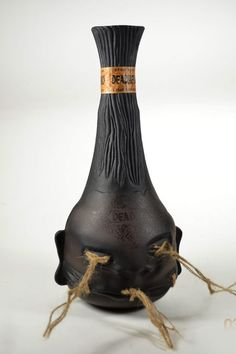Dead Head 6-Year Aged Rum in a bottle made to look like a shrunken head | #packaging
