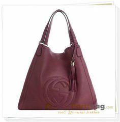 Gucci Soho Large Shoulder Handbag 282308 Burgundy Us Handbags