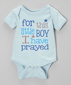 Another great find on #zulily! Blue 'I Have Prayed' Bodysuit - Infant by Initial Request #zulilyfinds