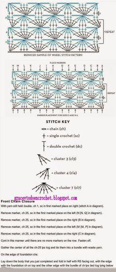 Grace y todo en Crochet: Shawl for those not so cold days...Estola para esos días no tan fríos.