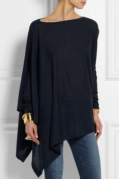 Love this look! Midnight-blue cashmere Slips on 100% cashmere Dry clean Designer color: Dark Navy