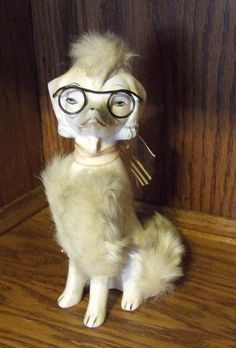 50's Kitsch Poodle with Glasses