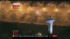 F.G. Saraiva: Queima de fogos celebra a chegada de 2014 em Copac...