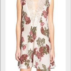 NWT FREE PEOPLE Floral Lace Dress Brand new with tags attached and in perfect condition. Adorable FREE PEOPLE floral lace dress. Loose fit. Approx length from shoulder to hem 33 inches. 100% rayon. ‼️ No trades, no other sites. Cannot model item. Will always consider reasonable offers. Free People Dresses