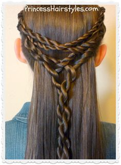 Tangled twists tie back hairstyle tutorial