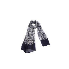 Echarpe Cashmere Azul Marinho de Algodão #echarpes #lenços #lenço #scarf #scarfs