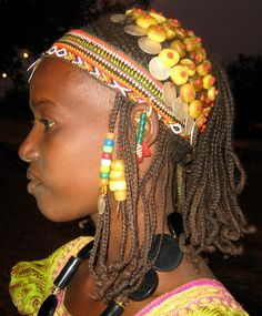 Africa Bride wearing a traditional outfit, Soma, the