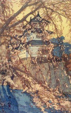 Hirosaki Castle by Yoshida Hiroshi