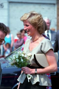 July 25, 1989: Princess Diana at the opening of the Landmark Centre in Tulse Hill.