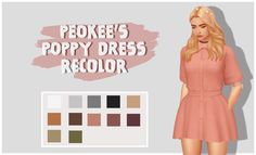 """toofudog: """" POPPY DRESS BY SENTATE RECOLOR • Comes in 12 colors using citrontart Neutral palette • Download the mesh here ( Ya need it ) • Download here ( Simsfileshare) [TOU] Please do not re-upload to sites/ Paid sites Please do not claim as your..."""