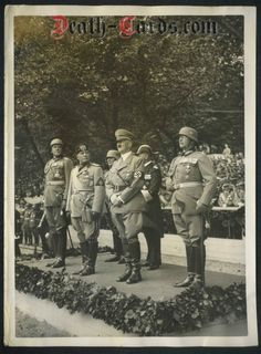 orig. WWII Photo - Hitler - Mussolini - Goering and Generals