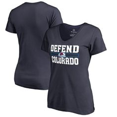 Colorado Avalanche Fanatics Branded Women's Plus Sizes Hometown Collection Defend T-Shirt - Navy