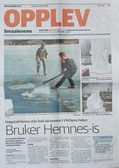 Min Is skulptur med i Norsk tidning, skoj ,-) Tack Mari för artikeln.