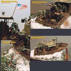 American SpeedBoat 1/35 PART2 Unknown modeler From: taringa  #scalemodel #plastimodelismo #miniatura #miniature #miniatur #hobby #diorama #humvee #scalemodelkit #plastickits #usinadoskits #udk #maqueta #maquette #modelismo #modelism