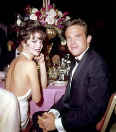 Natalie Wood and Warren Beatty, 1962, such a GORGEOUS siblings, have to have them over, want to know what happened that night on the boat