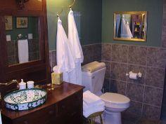 Bathroom vanity from dresser.