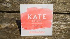 © dekaartjeswinkel.nl Letterpress geboortekaartje – Kate