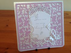 Sympathy card using Tonic die and sentiment.