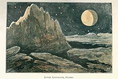 sunset on the moon