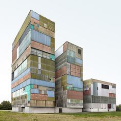 Unusual buildings photographed by Filip Dujardin from Belgium. Unusual buildings Examples of Crazy and Unusual buildings photographed by . Architecture Cool, Innovative Architecture, Container Architecture, Unusual Buildings, Amazing Buildings, Contemporary Buildings, Interesting Buildings, Photomontage, World Trade Center