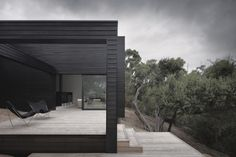 """Ridge Road Residence by StudioFour """"Location: The Ridge Road, Moonah Links Golf Course, Fingal, Australia"""" 2012 Rural House, Ridge Road, Building Design, Garage Doors, Houses, Farmhouse, Carriage Doors, Country Houses"""