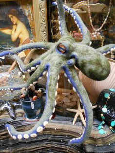 Large Needle Felted Octopus by AStrollThroughTime on Etsy