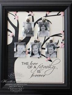 Family Tree using Beveled windowpanes