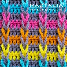 Learn how to make a diagonal basketweave stitch pattern. This is a crochet stitch in the Stitchorama by Naztazia collection. A DIY crochet project by Donna Wolfe from Naztazia. Crochet Afghans, Crochet Squares Afghan, Crochet Stitches Patterns, Tunisian Crochet, Stitch Patterns, Knit Stitches, Crochet Granny, Granny Squares, Knitting Patterns