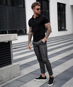 Mens Fashion – Designer Fashion Tips Rustic Mens Fashion, Best Mens Fashion, Smart Casual Menswear, Men Casual, Stylish Mens Outfits, Casual Outfits, Business Casual Herren, Fashion Fotografie, Polo Shirt Outfits