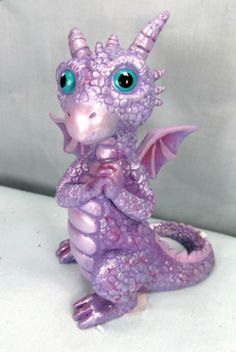 Dragon-Baby-Violet-purple-with-pink-highlights-mythical-fantasy