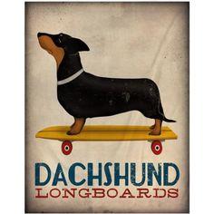 MOD Home Dachshund Long Board Duvet, Multicolor