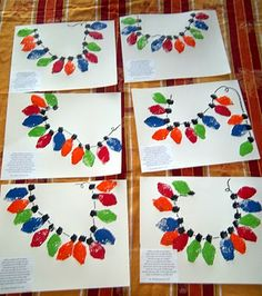 Sponges cut into lightbulb shapes for a toddler art project with a cute poem.