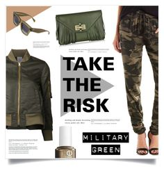 """""""Take The Risk"""" by marina-volaric ❤ liked on Polyvore featuring Charlotte Russe, Diane Von Furstenberg, AR, Essie, CÉLINE and Gogreen"""