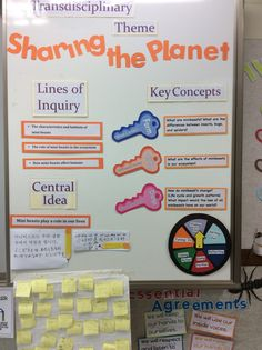 Inquiry Wall - sharing the planet                                                                                                                                                     More