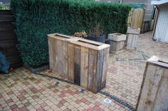 plantenbakken van steigerhout