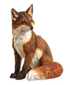 Look at this #zulilyfind! Handsome Fox Statue #zulilyfinds