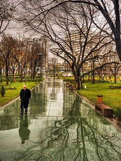 Reflections of Gençlik Park, Ankara, Turkey