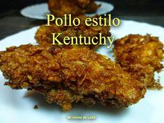 POLLO ESTILO KENTUCHY. Riquísimo, gusta a mayores y encanta a los más chicos  ;)  Sigue la receta te gustará!! Pollo Chicken, Poultry, Yummy Food, Yummy Yummy, Beef, Recipes, Google, The World, Stuffed Chicken Breasts