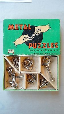 Vintage #merit #metal puzzles #boxed 1950s/1960s (7 puzzles),  View more on the LINK: 	http://www.zeppy.io/product/gb/2/381657248070/